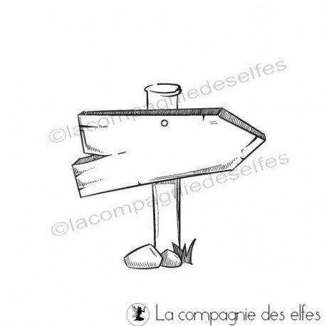 CARTE LIBRE 1/3 Tampon-panneau-fleche