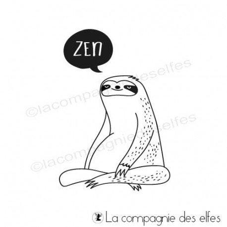 Les tampons de Sandrine Tampon-encreur-paresseux-zen