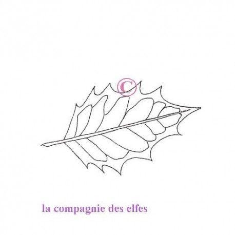 """1 novembre défit """" inspiration """" de scraptyfingers  Houx-feuille-tampon-nm"""