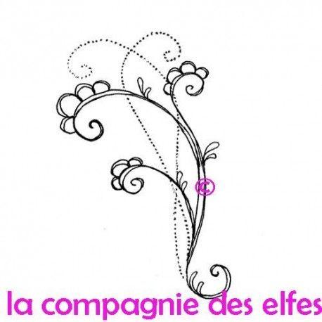 """1 novembre défit """" inspiration """" de scraptyfingers  Grand-tampon-arabesques-doodling-non-monte"""