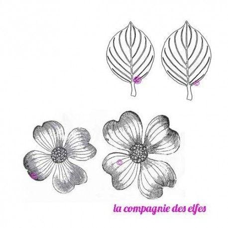 CaroleC vous propose pour ce challenge du scrapbooking day Tampons-fleur-et-feuilles-cornouiller-non-montes