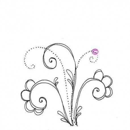 """1 novembre défit """" inspiration """" de scraptyfingers  Motif-arabesques-floral-tampon-nm"""
