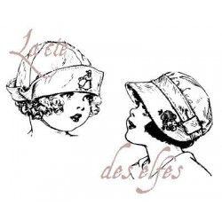 bouilles de petites filles pm tampons vintage nm