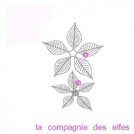 """1 novembre défit """" inspiration """" de scraptyfingers  Tampon-poinsettia-etoile-de-noel-non-montes-pm"""
