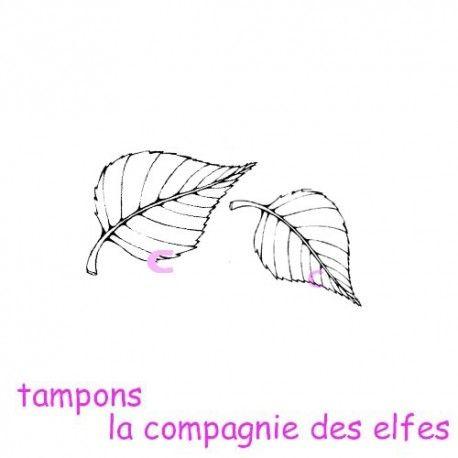 """1 novembre défit """" inspiration """" de scraptyfingers  Tampon-duo-de-feuilles-non-montes"""