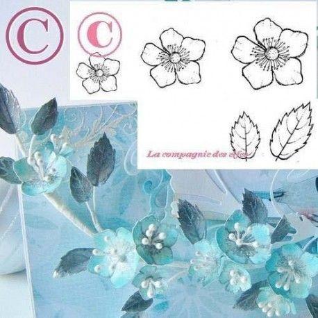 """1 novembre défit """" inspiration """" de scraptyfingers  Fleur-et-feuilles-du-japon-tampons-nm-gm"""