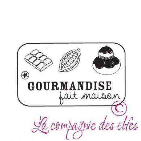 """Pas à pas classeur de recette  """" le matériel """" Gourmandise-etiquette-fait-maison-tampon-nm"""